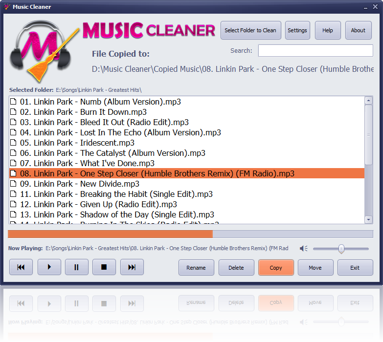 Music Cleaner 1.3 Screen shot